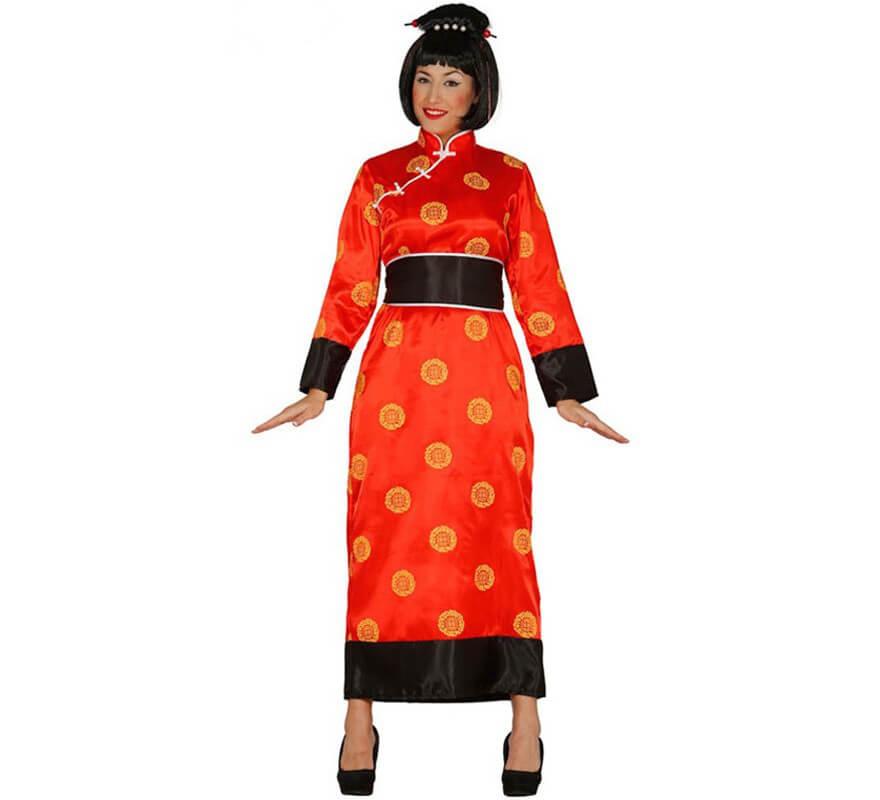 disfraz de china rojo para mujer
