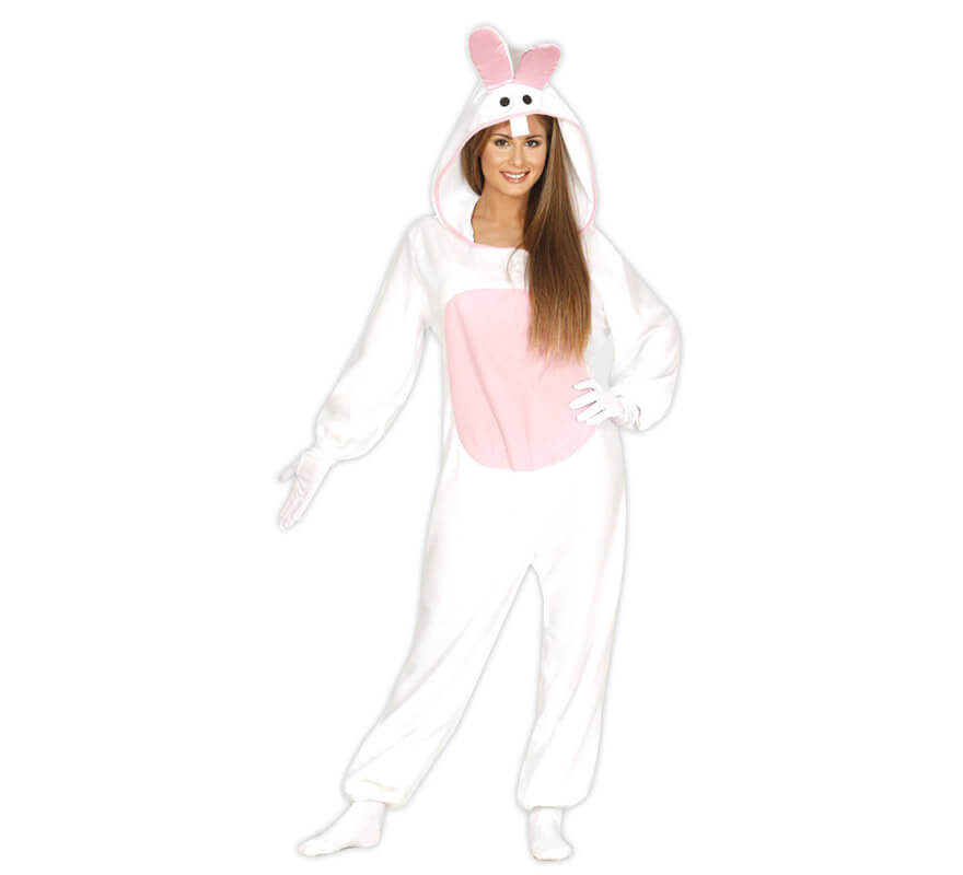 Disfraz Conejo Blanco adulto, Talla: nica