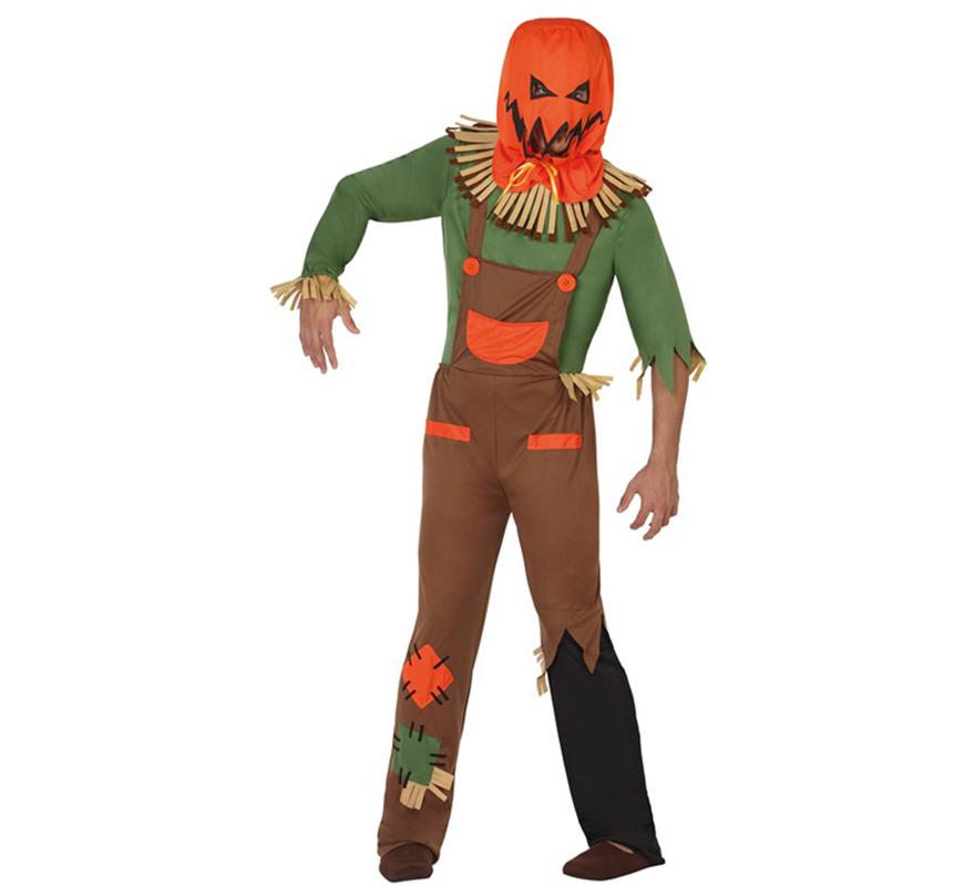 Disfraz de espantap jaros calabaza en varias tallas para - Calabazas halloween originales para ninos ...