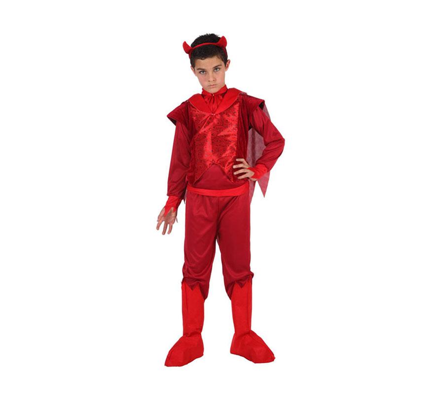Disfraz de Demonio Fuego para niño en varias tallas