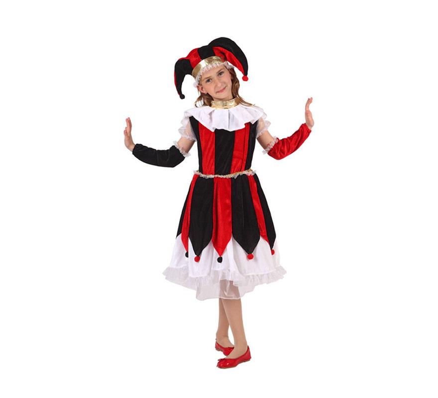 Disfraz de arlequ n para ni as de 3 a 4 a os disfrazzes - Disfraces navidenos para ninas ...