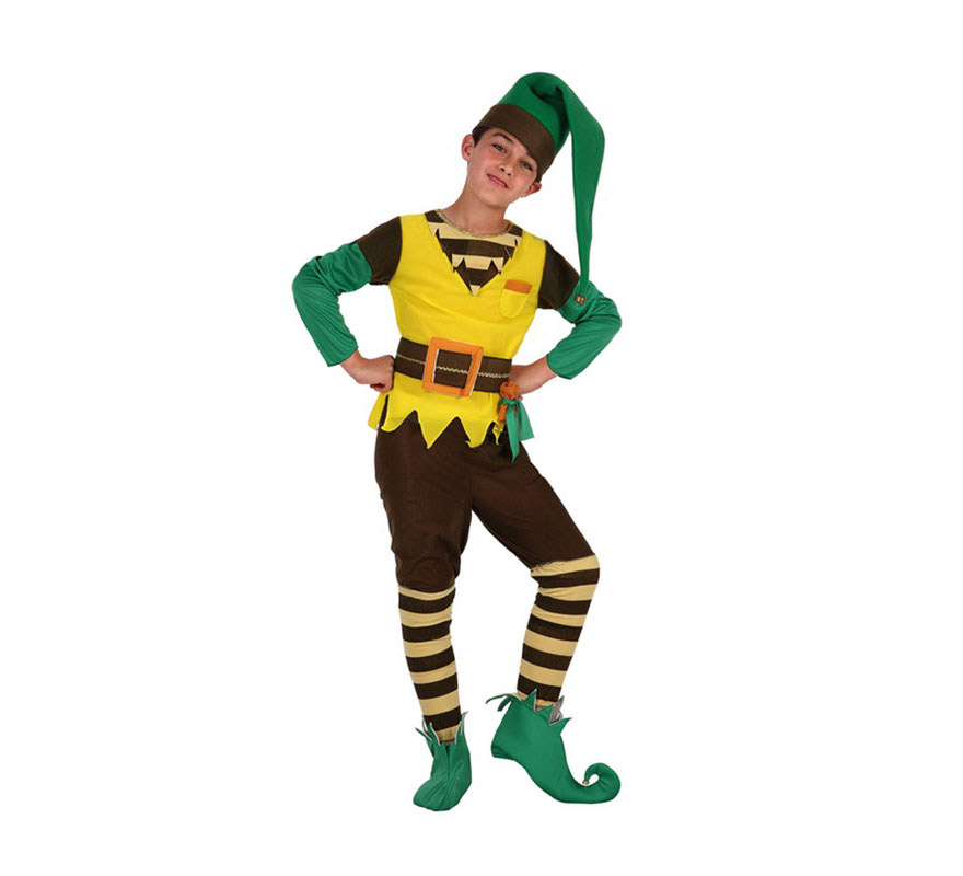 Disfraz de duende verde para ni os en varias tallas - Disfraces de duendes navidenos para ninos ...