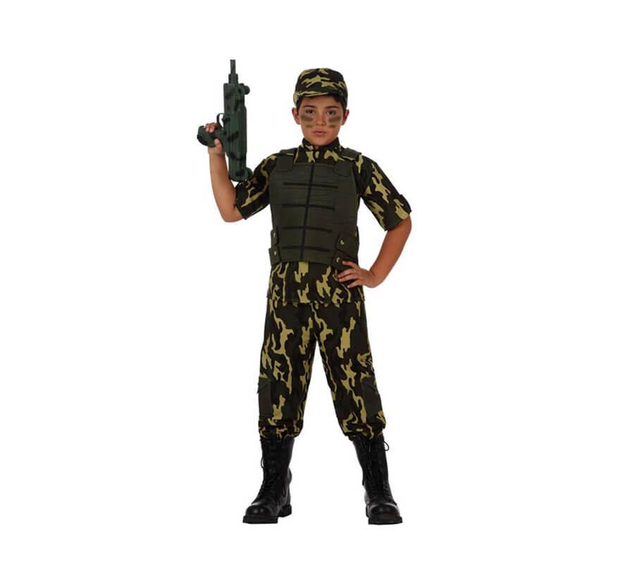 Disfraz de Camuflaje Militar para niños
