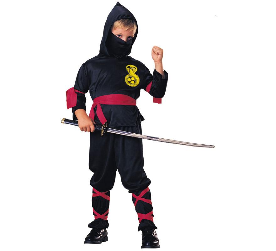 Disfraz de Ninja Negro para niños en varias tallas