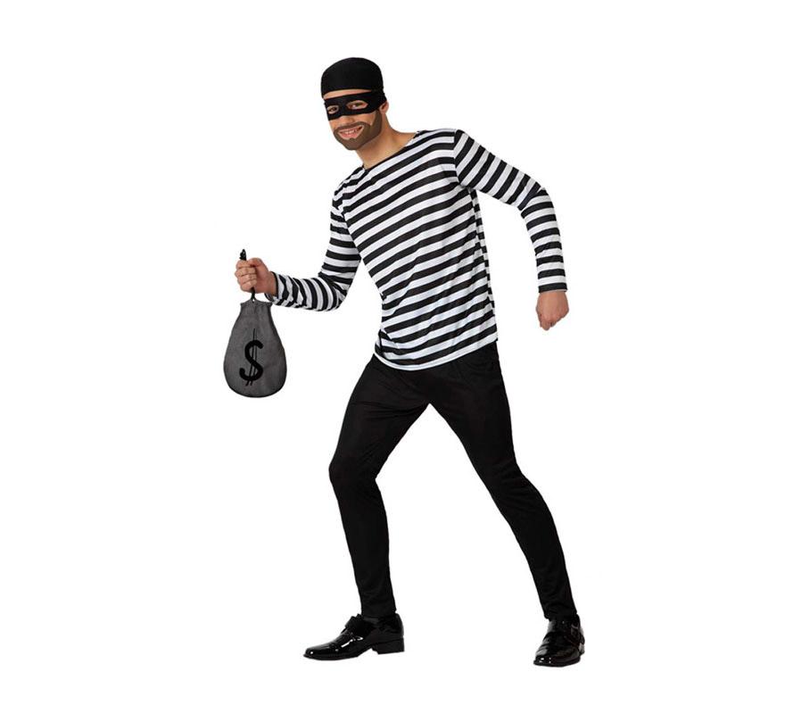 Disfraz de ladr n para hombre talla m l disfrazzes for Disfraces antifaz