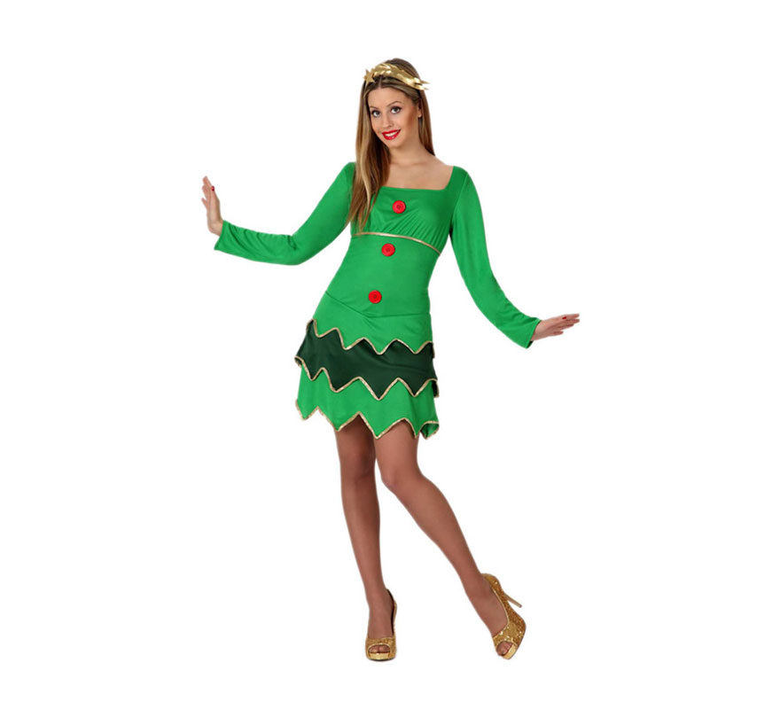 Disfraz de rbol de navidad para mujer talla m l - Disfraz de navidad ...