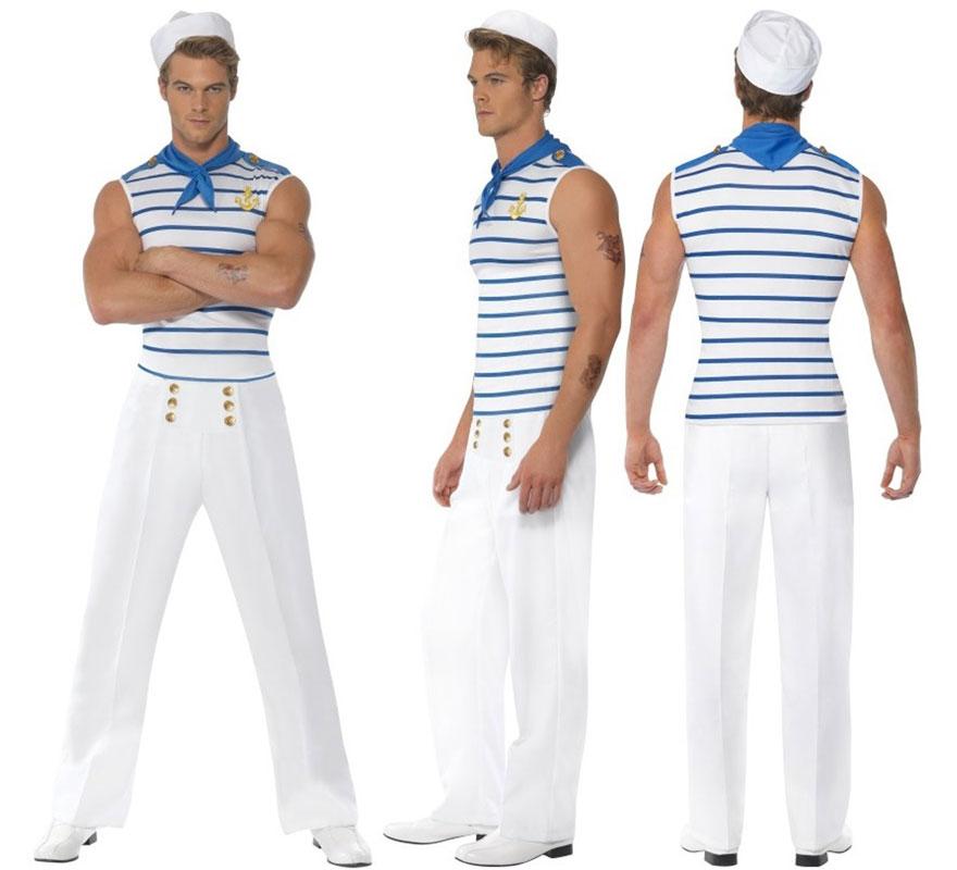 Disfraz de marinero grumete sexy para hombre talla l - Disfraz de marinero casero ...