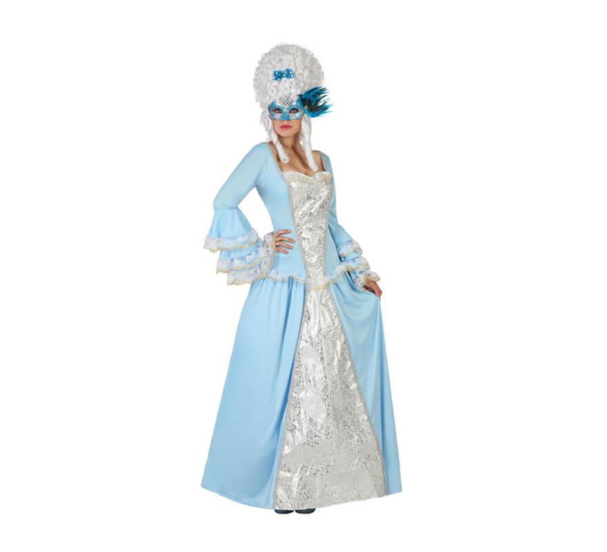Disfraz de cortesana de poca azul para mujer talla m l - Trajes de carnaval de epoca ...