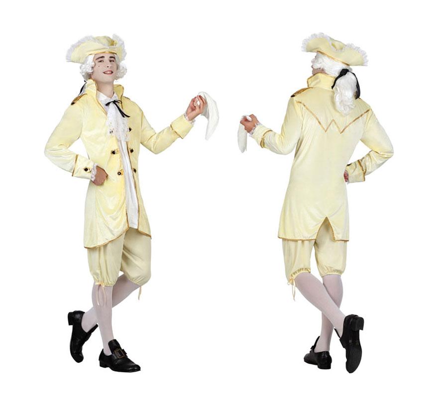 Disfraz de cortesano de poca amarillo para hombre talla for Disfraces de epoca