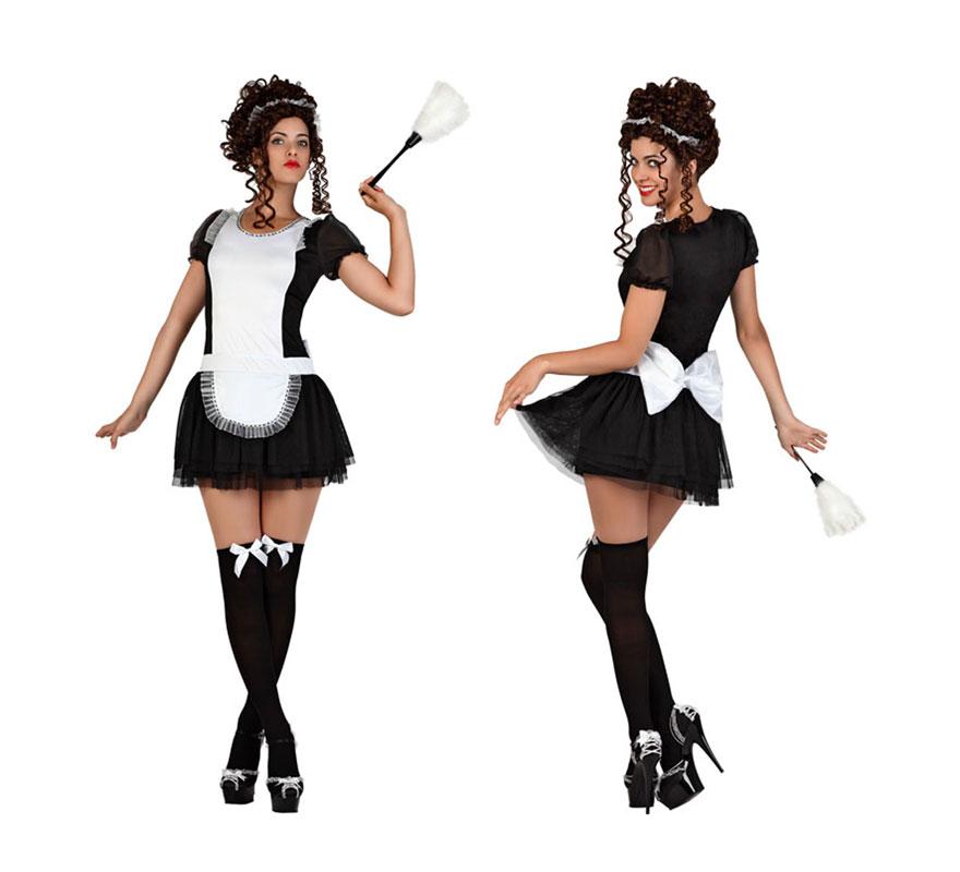 Disfraz de sirvienta con lazo para mujer en varias tallas - Zapatos camarera antideslizantes ...