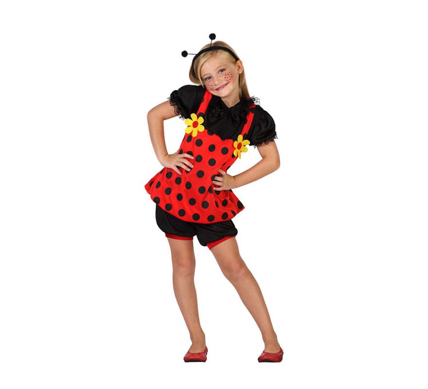 Disfraz de mariquita con margaritas para ni a en varias tallas - Disfraz de mariquita bebe ...