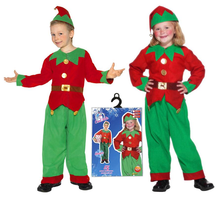 Disfraz de elfo o elfa para ni os de 4 a 6 a os - Disfraces de duendes de navidad ...