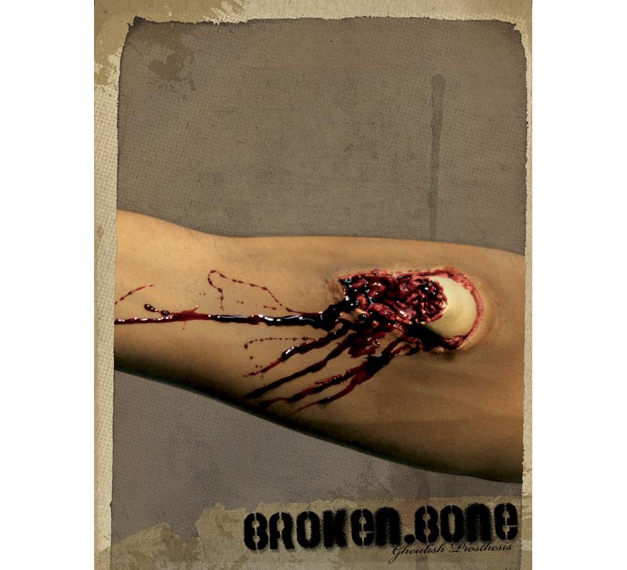 Maquillage fx en latex os cass pour halloween - Maquillage latex halloween ...