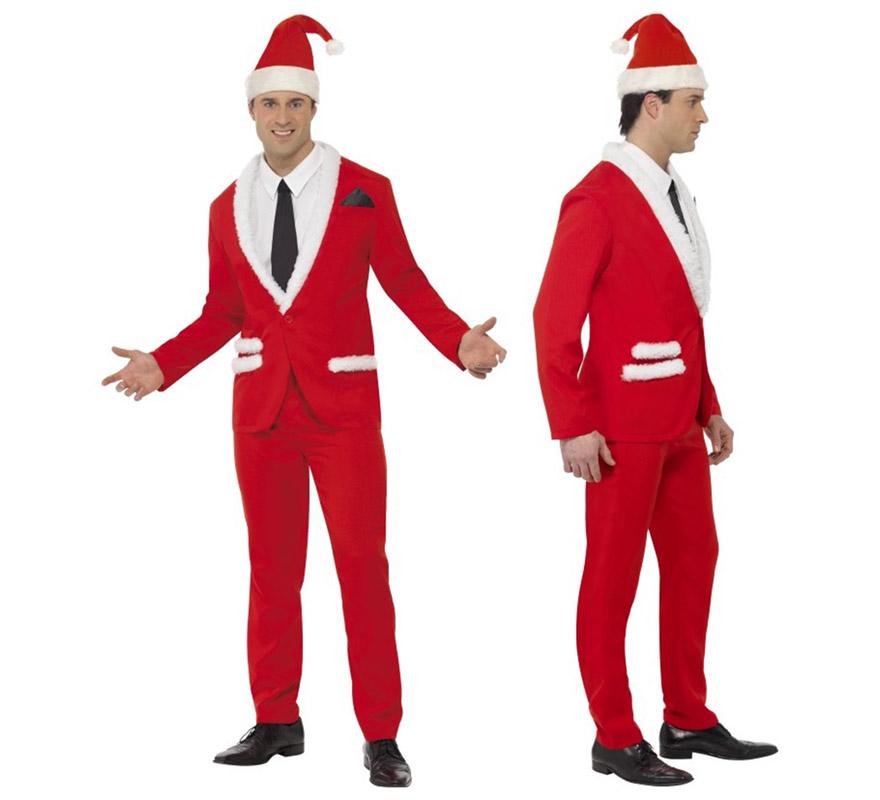 Traje de papa noel de hombre talla l para navidad - Trajes de papa noel para ninos ...