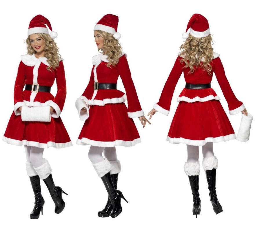 Disfraz de mam noel para mujer talla m para navidad - Disfraces duendes navidenos ...