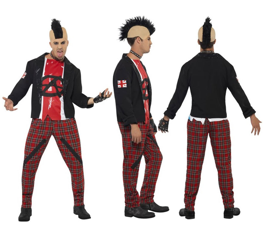 Disfraces de Años 50 Rock y Punk para Adultos,