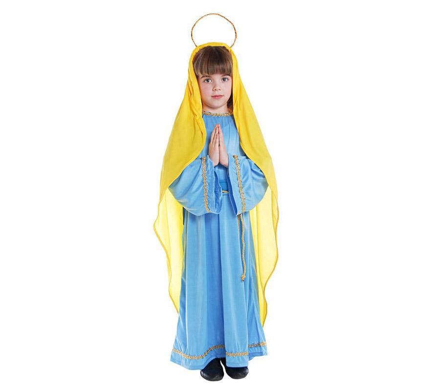Disfraz de la virgen maria 7 9 a os para navidad - Disfraz de navidad para bebes ...