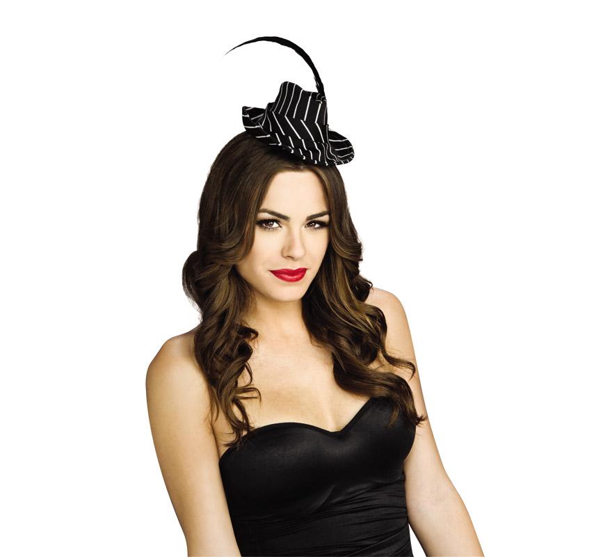 Mini sombrero de G�nster para mujer | DISFRAZZES | Disfraces ...