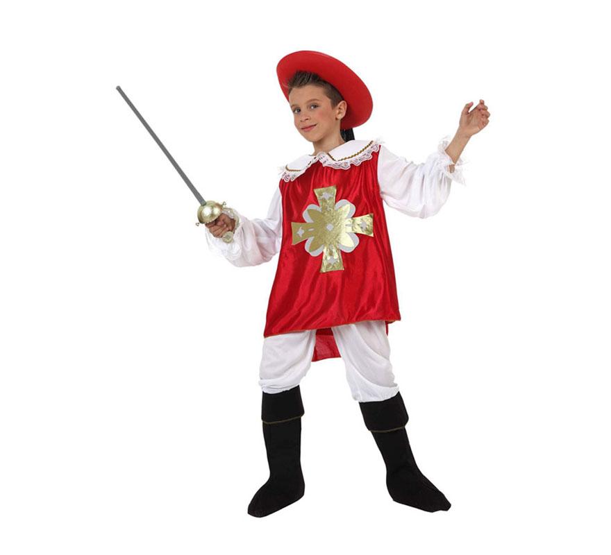 Disfraz de mosquetero rojo para ni os de 10 a 12 a os - Disfraces para navidad ninos ...