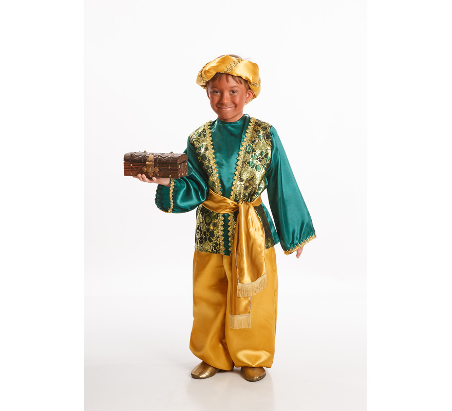 Disfraz de paje verde para ni o de 9 a 11 a os - Disfraces para navidad ninos ...