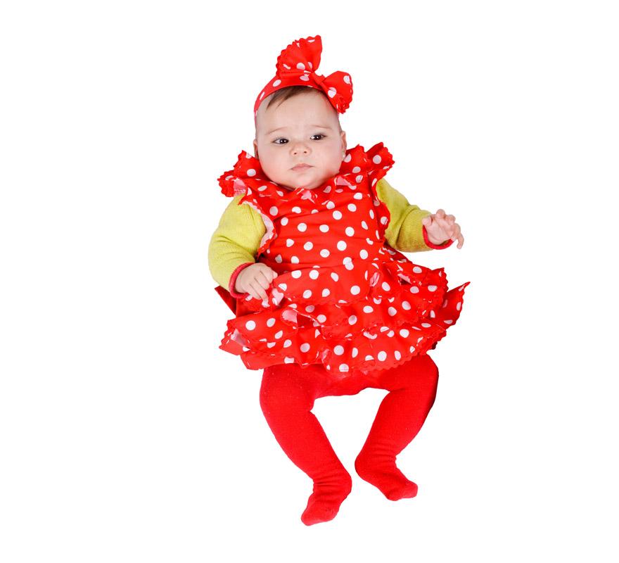 Disfraz babero de sevillana para beb s 6 meses - Disfraz de navidad para bebes ...
