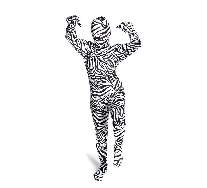 Disfraz morphsuit de cebra talla s infantil disfrazzes for Disfraz de cebra