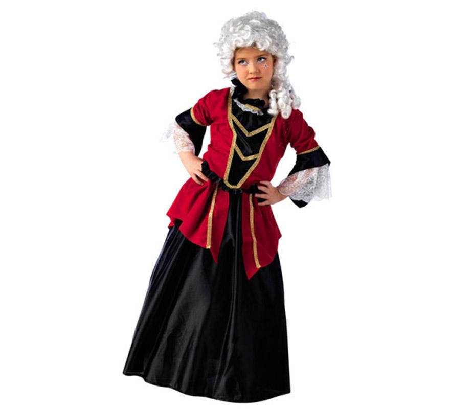 Disfraz de dama de poca deluxe para ni a for Disfraces de epoca