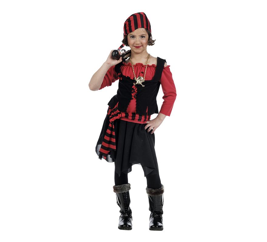 Disfraz de pirata con falda para ni a en varias tallas - Maquillaje pirata nina ...