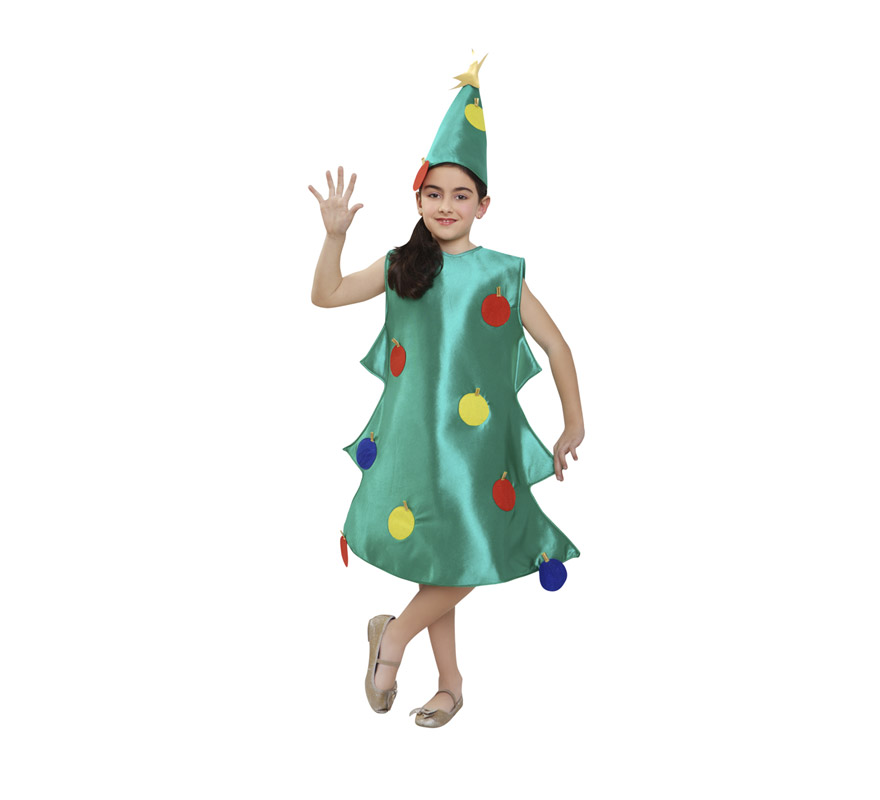 Disfraz de rbol de navidad para ni os de 5 a 6 a os - Disfraces navidenos para bebes ...