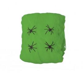 Bolsa de Telarañas color verde de 60 gr para decorar
