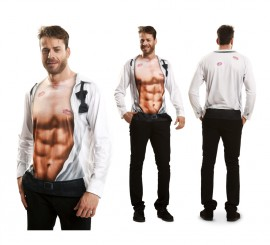 Camiseta disfraz chico sexy para hombre