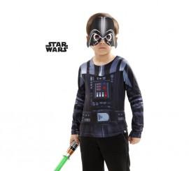Camiseta disfraz Darth Vader de Star Wars para niño