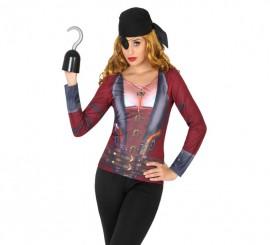 Camiseta disfraz de Pirata para mujer