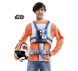 Camiseta disfraz Luke Skywalker de Star Wars para hombre