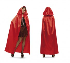 Capa con Capucha roja para mujer
