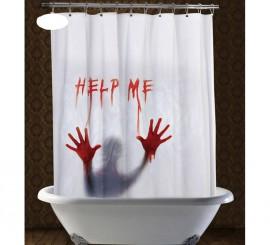Cortina de ducha Help Me de 180x180 cm
