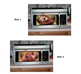 Decoración para microondas de 23x50 cm en 2 modelos