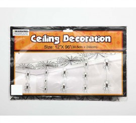 Decoración para techo de Arañas y Telarañas para Halloween de 30.5x244 cm