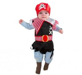 Disfraz o Babero de Pirata para bebés de 6 meses