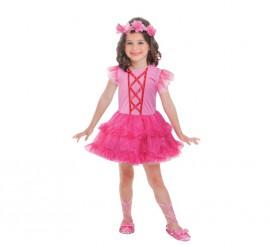 Disfraz de bailarina fucsia para niñas de 3 a 6 años