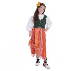 Disfraz de Bodeguera medieval para niña