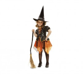 Disfraz de Bruja dorada para bebés y niñas para Halloween