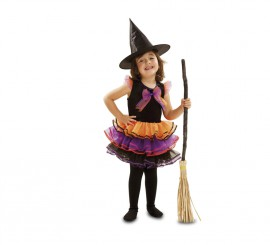 Disfraz de Bruja Fantasía para bebé y niñas en varias tallas para Halloween