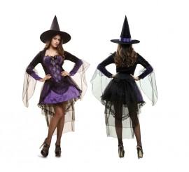 Disfraz de Bruja Glamour para mujer en varias tallas de Halloween