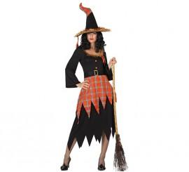 Disfraz de Bruja moderna para mujer en varias tallas para Halloween