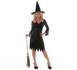 Disfraz de Bruja negra para mujer en varias tallas para Halloween