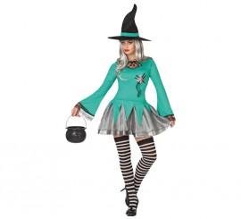Disfraz de Bruja Parche para mujer en varias tallas para Halloween