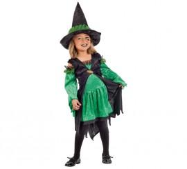 Disfraz de Brujita Esmeralda para niña