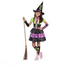Disfraz de Brujita hechizada para niñas de 8 a 10 años para Halloween