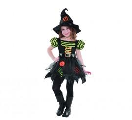 Disfraz de Brujita parches para niñas en varias tallas para Halloween